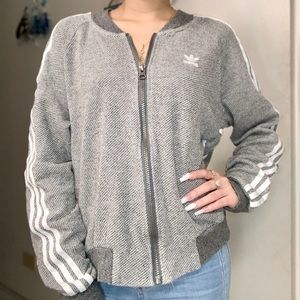 Adidas lace up bomber jacket